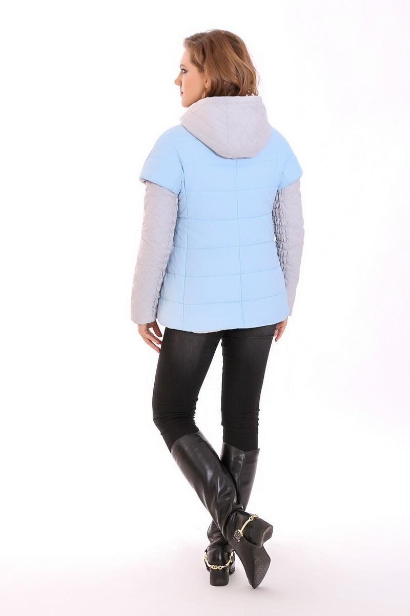 Куртка для беременных 04845 голубой/серый