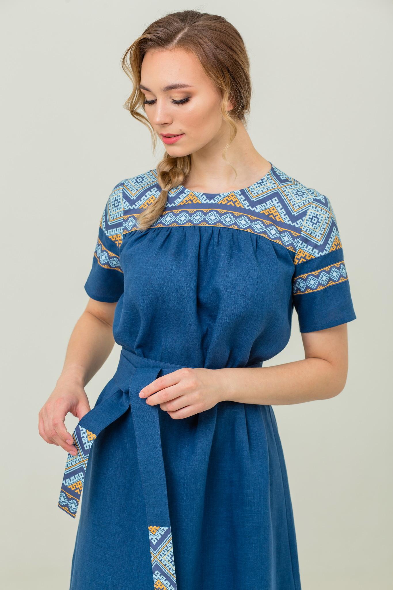 Платье миди обережное купить Каспийское