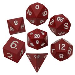 Набор красных разногранных металлических кубиков