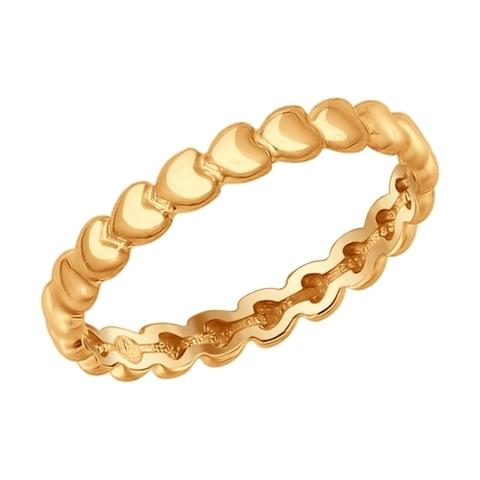 93010584 - Кольцо из позолоченого серебра