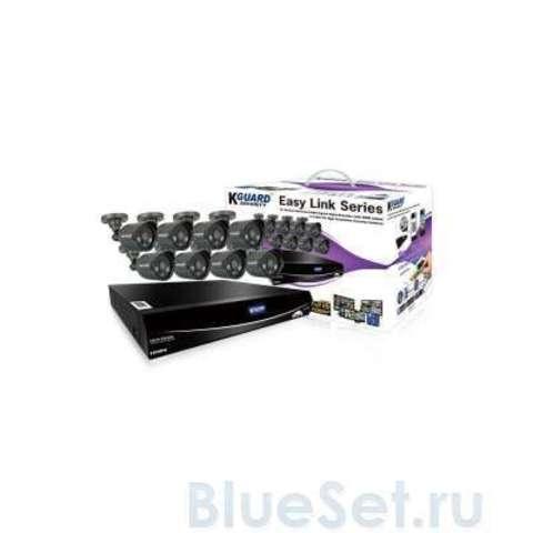Система видеонаблюдения KGuard EasyLink 960H 16Ch + 8Cam 600TVL (El1621-8Hw212B)