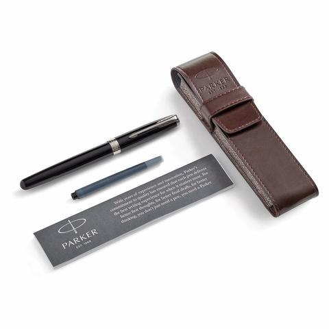 Набор с чехлом и Перьевая ручка Parker Sonnet , Lacquer Deep Black CT123