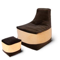 Комплект кресло трон Шоколад и пуф куб