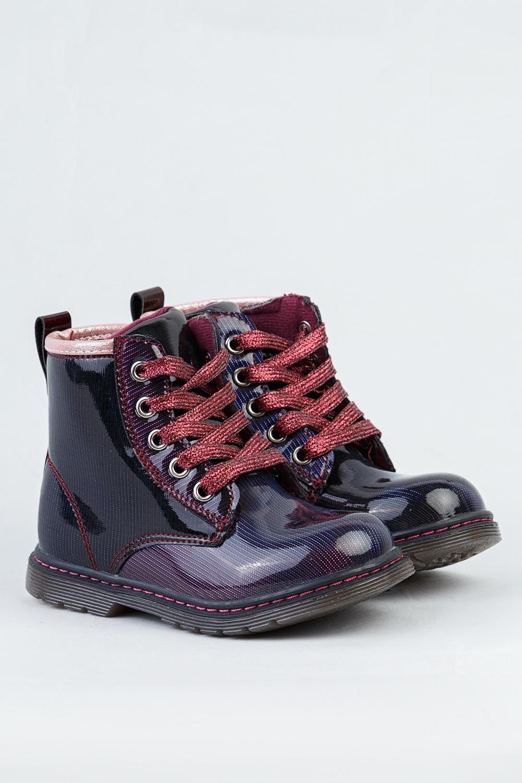 Ботинки синие для девочки 204-0049-1