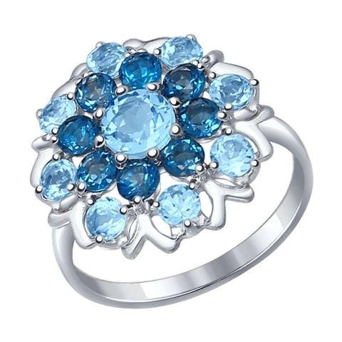 Cеребряное кольцо с топазом