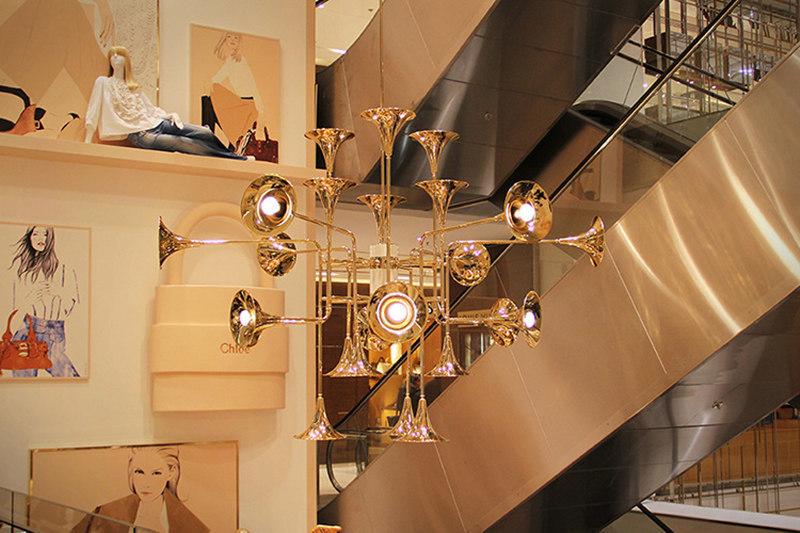 Подвесной светильник копия Botti by Delightfull (16 плафонов)