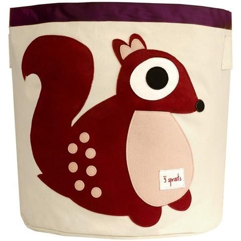 Корзина для хранения 3 Sprouts Белочка розовая (Berry Squirrel SPR209) 67591