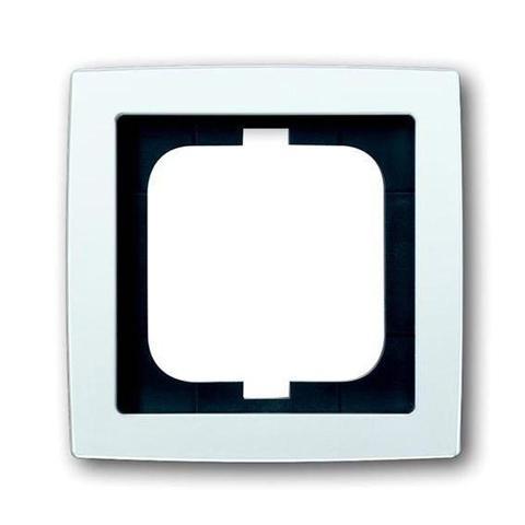 Рамка на 1 пост. Цвет Белый глянцевый. ABB(АББ). Solo(Соло). 1754-0-4536