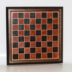 Доска для шашек из натуральной кожи