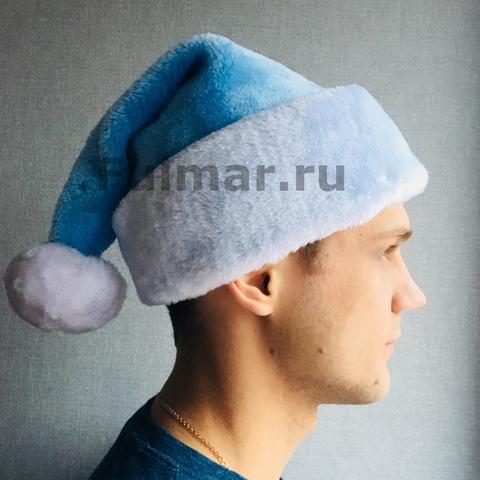 Новогодний колпак-шапка (Цвет: голубой)