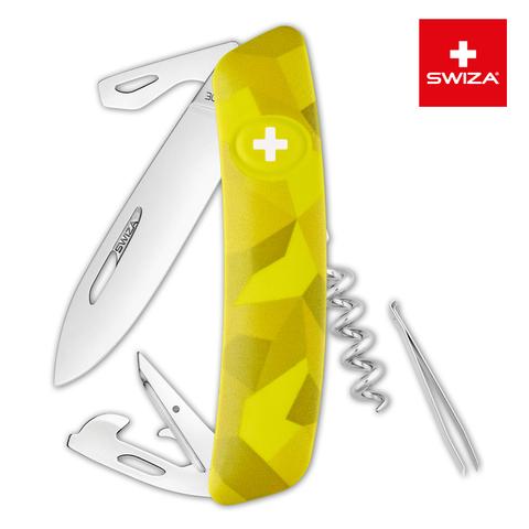 Швейцарский нож Swiza  (KNI.0030.2080) C03 Camouflage 95 мм 11 функций желтый