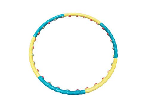 Обруч массажный пластиковый, разборный. Имеет 30 мягких неопреновых шариков , которые оказывают массажный эффект.  Внутренний диаметр 90см. :(3008   SL3008):