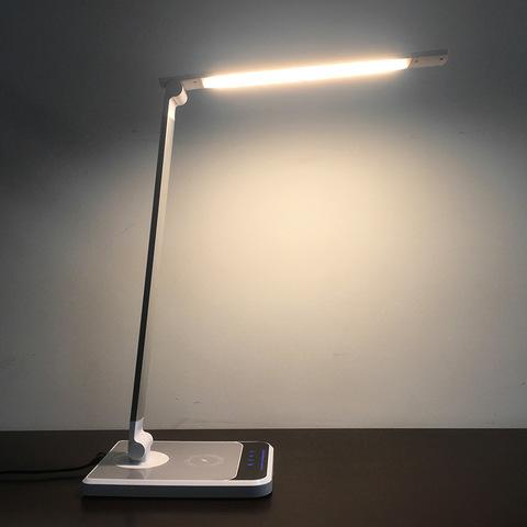 Настольная сенсорная светодиодная лампа LP-TL002 с беспроводным зарядным устройством