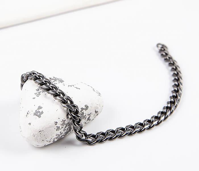 BM552 Тонкий браслет - цепочка из нержавеющей стали фото 02