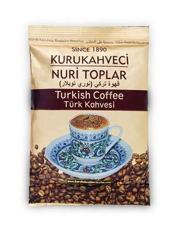 Турецкий кофе   KURUKAHVECI NURI TOPLAR 100 ГР.