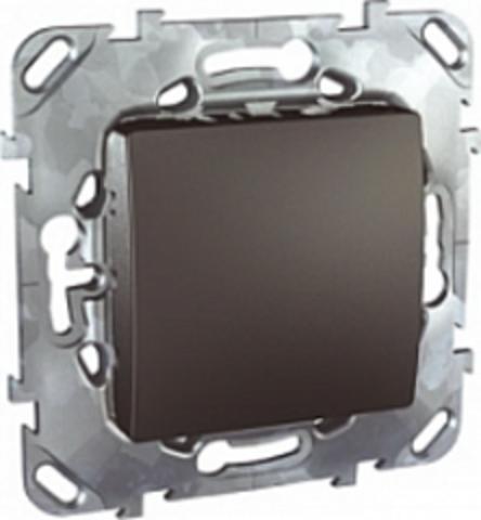Выключатель одноклавишный проходной - Переключатель одноклавишный. Цвет Графит. Schneider electric Unica Top. MGU5.203.12ZD