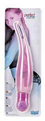 Розовый вибромассажёр PERFECT CURVE - 16 см.