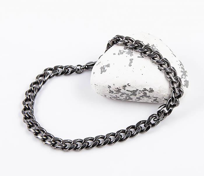 BM552 Тонкий браслет - цепочка из нержавеющей стали фото 05
