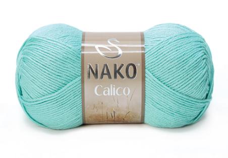 Пряжа Nako Calico лазурь 11221