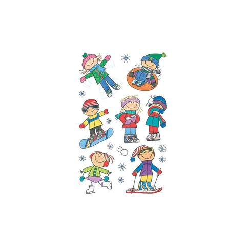 Набор стикеров Mini Stickers 3/Pkg Winter Kids