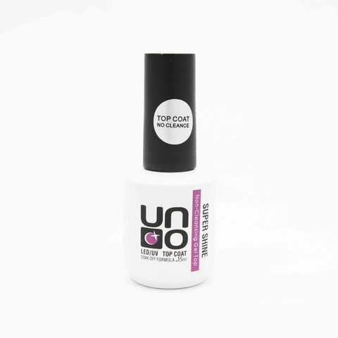UNO Top coat No Cleance без липкого слоя SUPER SHINE, 15 мл.