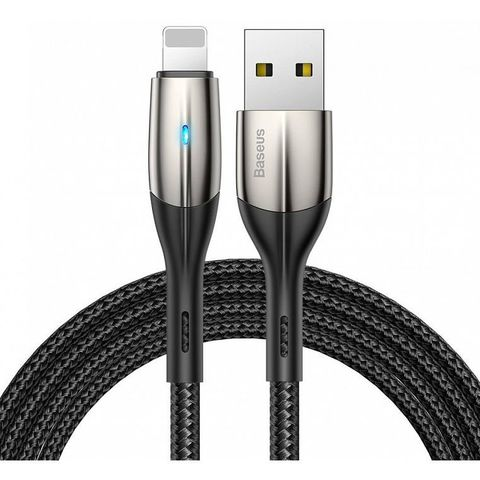 Кабель Baseus Horizontal Data Cable(With An Indicator Lamp)USB For iP 2.4A 0.5m Black