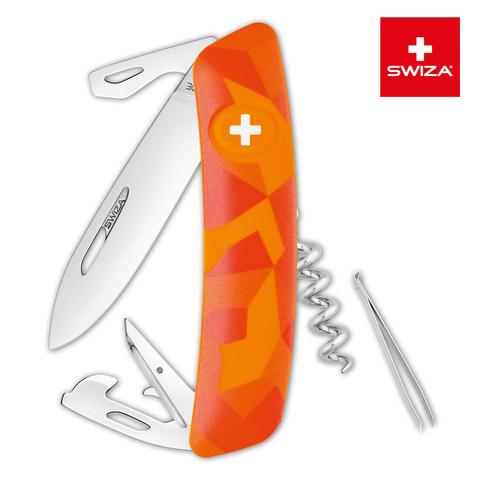 Швейцарский нож Swiza  (KNI.0030.2070) C03 Camouflage 95 мм 11 функций оранжевый
