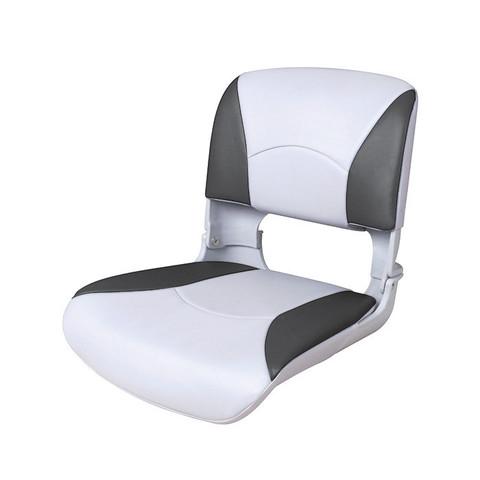 Сиденье пластмассовое складное с подложкой Deluxe All Weather Seat, бело-черное
