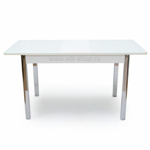 Стол Ницца-2 80х120 Белый/ Рис.0 / 120(152)х80см