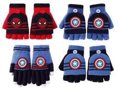 Супергерои перчатки детские трикотажные