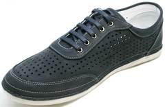 Красивые модные кроссовки городской стиль мужские Vitto Men Shoes 3560 Navy Blue.