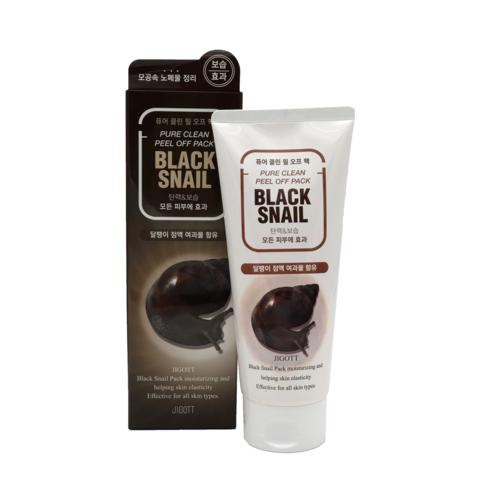 Гель с муцином черной улитки JIGOTT Premium Facial Black Snail Peeling Gel 180 мл