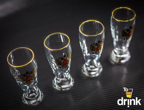 Подарочный набор из 4 стопок для водки