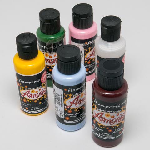 Акриловые краски по ткани Armonia