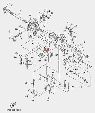 Шток для лодочного мотора F20 Sea-PRO (19-25)