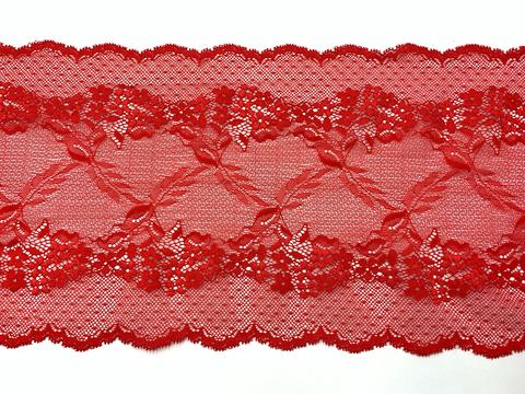 Кружево эластичное красное 20 см