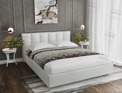 Кровать Sontelle Амонд эко-кожа белый