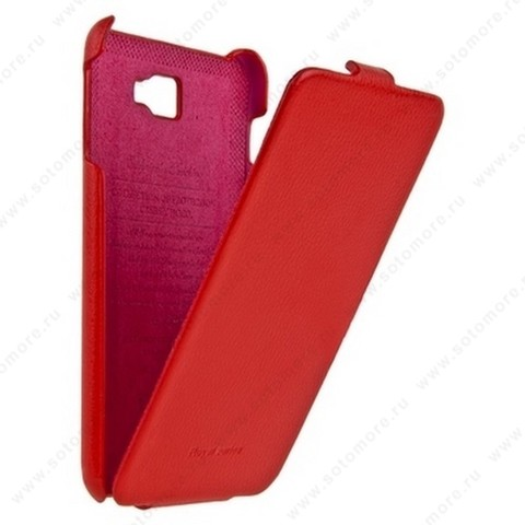 Чехол-флип HOCO для Samsung Galaxy Note N7000 - HOCO Leather Case Red