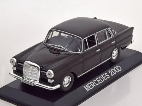 Mercedes 200D black 1:43 DeAgostini Masini de legenda #76