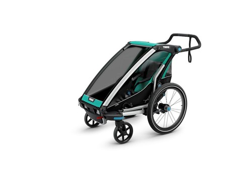 Картинка коляска Thule Chariot Lite1 изумрудная