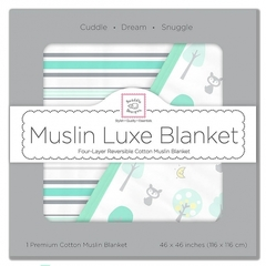 Одеяло Luxe Muslin Blue Forest