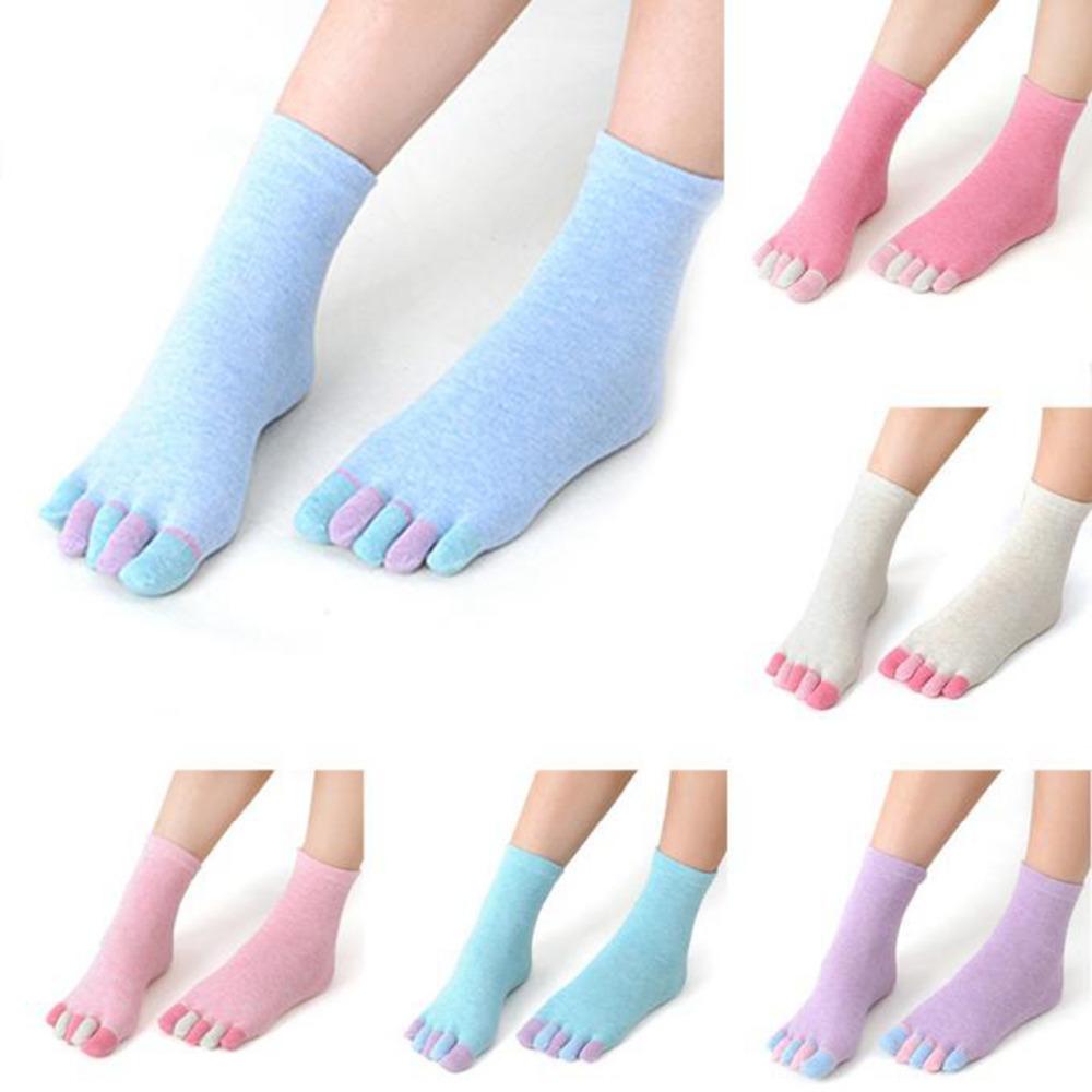 """Женские носки 5 пальцев """"Цветные пальчики"""""""