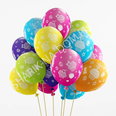 """Воздушные шары под потолок Воздушные шары """"Кексы и подарки"""" Шары_Кексы_и_подарки.jpg"""