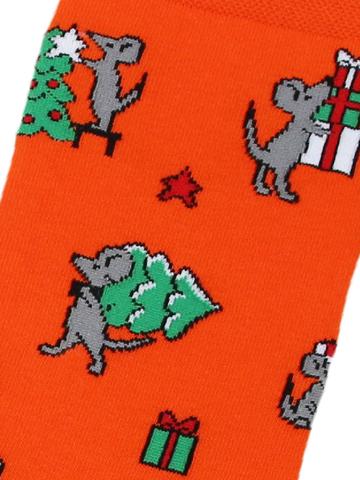 Носки Мышь с елкой