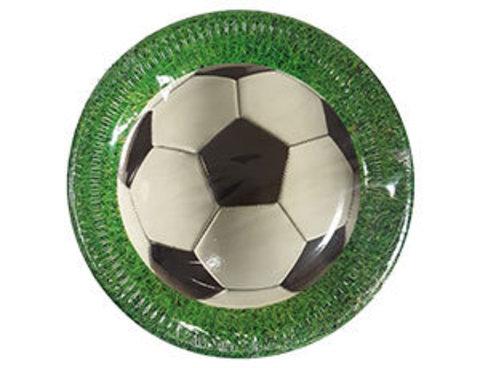 Тарелка Футбол зеленый 23см 8шт
