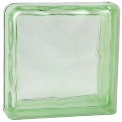 Завершающий стеклоблок зеленый окраска в массе Vitrablok   19x19x8