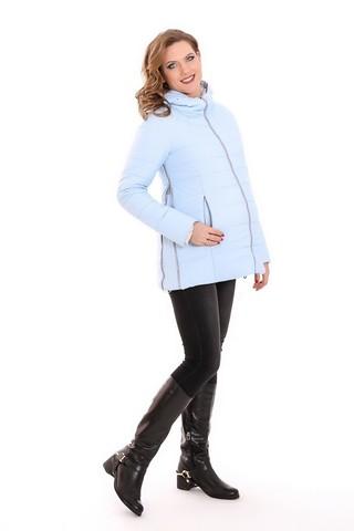 Куртка для беременных 07569 голубой/серый