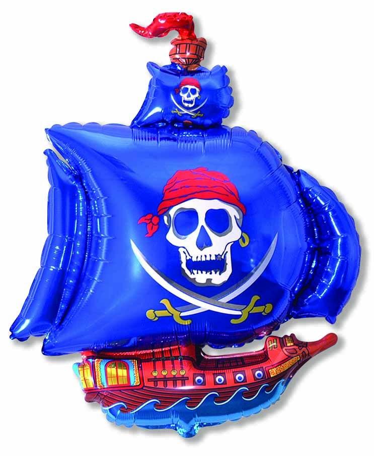 Фольгированные шар корабли Шар синий Пиратский корабль e3d6eaa453b429933662059b385f24de.jpg