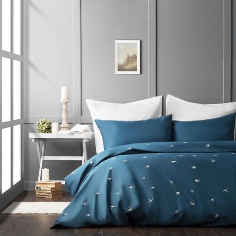 Комплект постельного белья сатин Парад синий