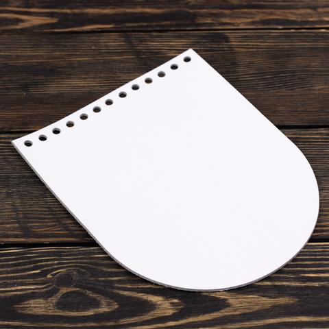 """Клапан для сумочки кожаный """"Белый"""" 15,5*19,5 см"""